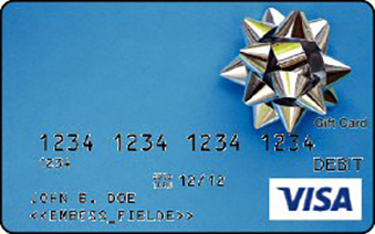 Visa Gift Card with a gift bow image