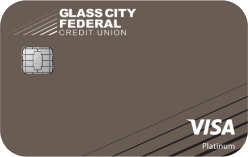 Photo of a Glass City Federal Visa Credit Card