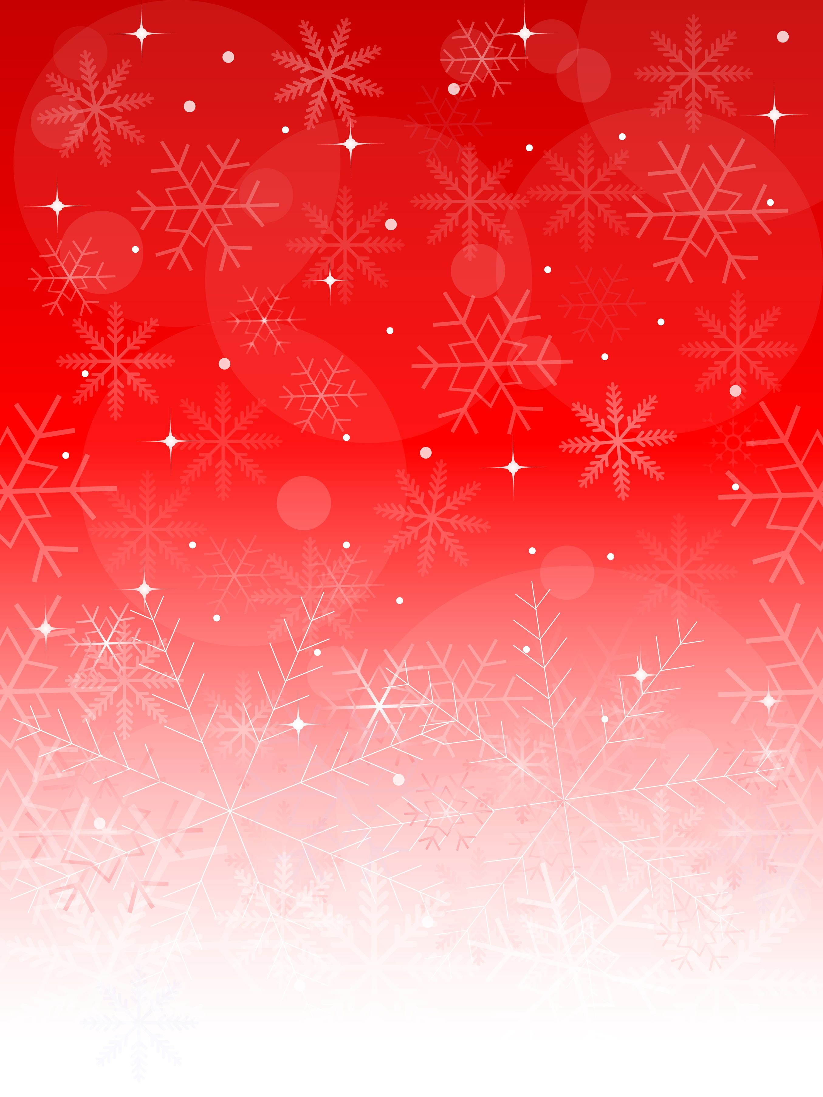 red background with white snowflakes