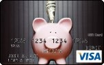 Visa Gift card with piggy bank image