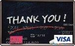 "visa gift card with the word ""Thank You"" as the image"