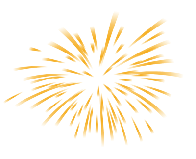 Clip art of exploding gold fireworks
