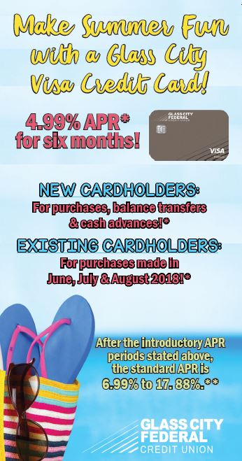 June - August 2018 4.99% APR Offer for new and existing cardholders. See disclosures below.