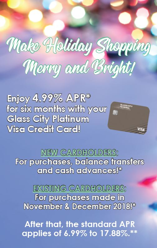Make Holiday Shopping Merry and Bright with a Glass City Visa